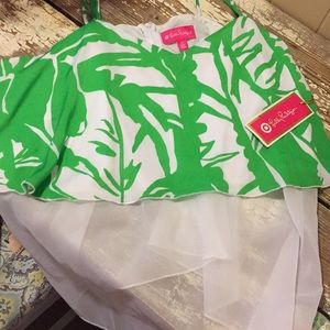Lilly Pulitzer 2XL Green Palm Jumpsuit NWT